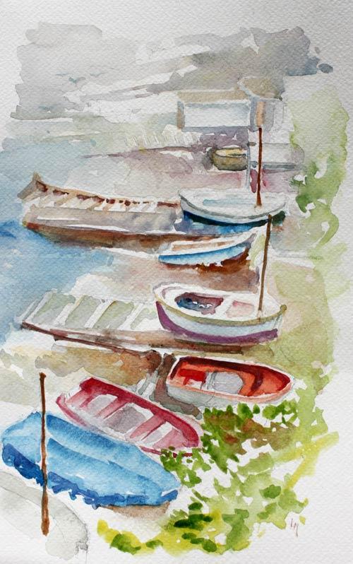 Stage aquarelle au port