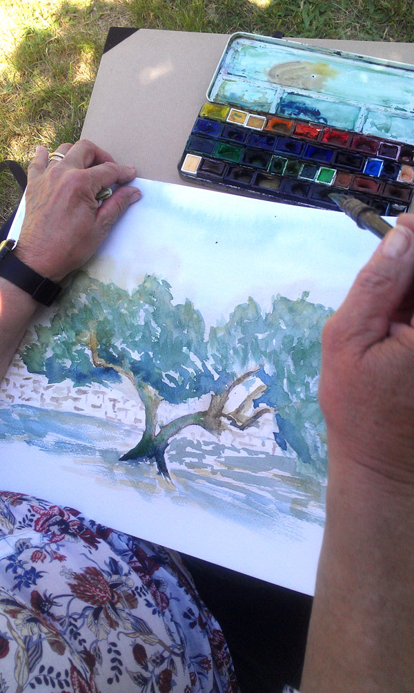 aquarelliste en stage