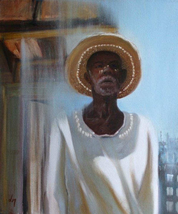 Portrait peinture huile mexicain
