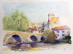 Cours de peinture aquarelle et stage sur mesure