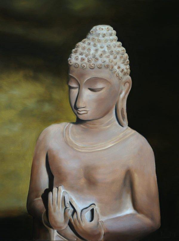 Peinture à l'huile - Bouddha